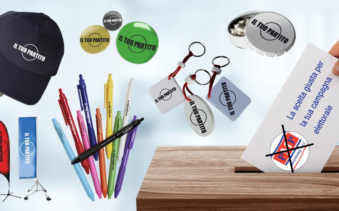Gadget e materiale promozionale per la Campagna Elettorale