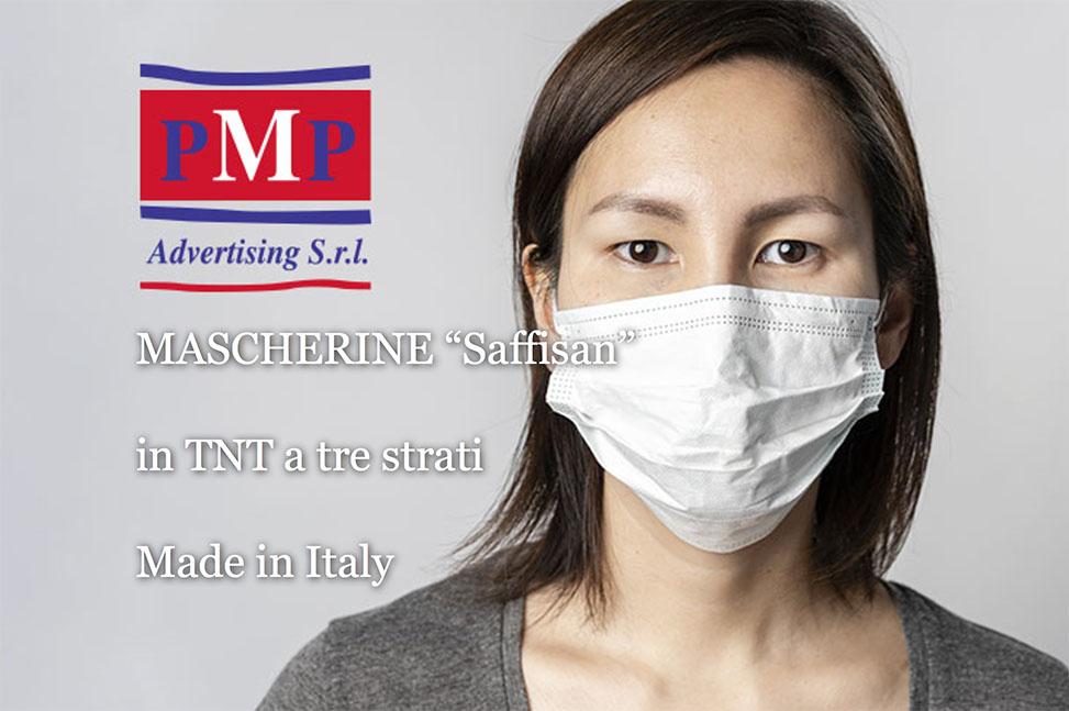 "MASCHERINE ""Saffisan"" in TNT a tre strati Made in Italy"