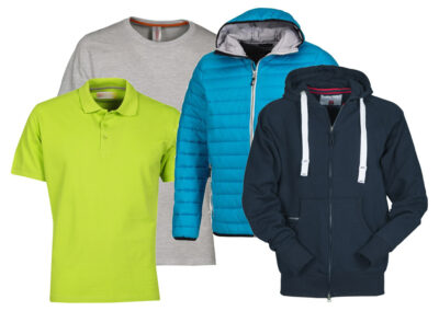 T-shirt, polo, felpe, giacche e abbigliamento